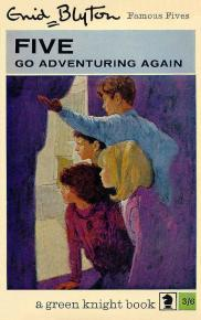 "englisches Buchcover: ""Five go adventuring again"" (B)"