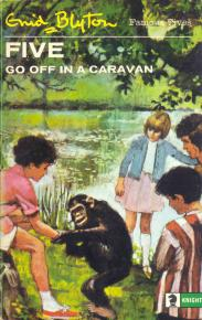 "englisches Buchcover: ""Five go off in a caravan"" (E)"