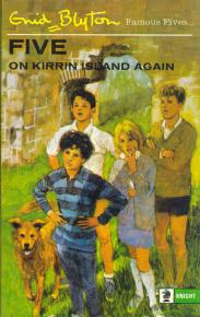 "englisches Buchcover: ""Five on Kirrin Island again"" (F)"