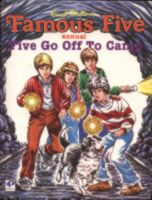 "englisches Buchcover: ""Five go off to camp"" (G)"