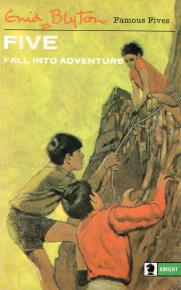 "englisches Buchcover: ""Five fall into adventure"" (I)"