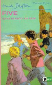 "englisches Buchcover: ""Five have plenty of fun"" (N)"