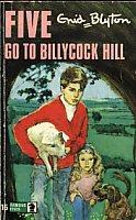 "englisches Buchcover: ""Five go to Billycock Hill"" (P)"