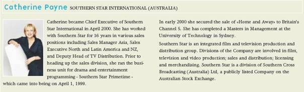 Catherine Payne - Southern Star International (Australia)